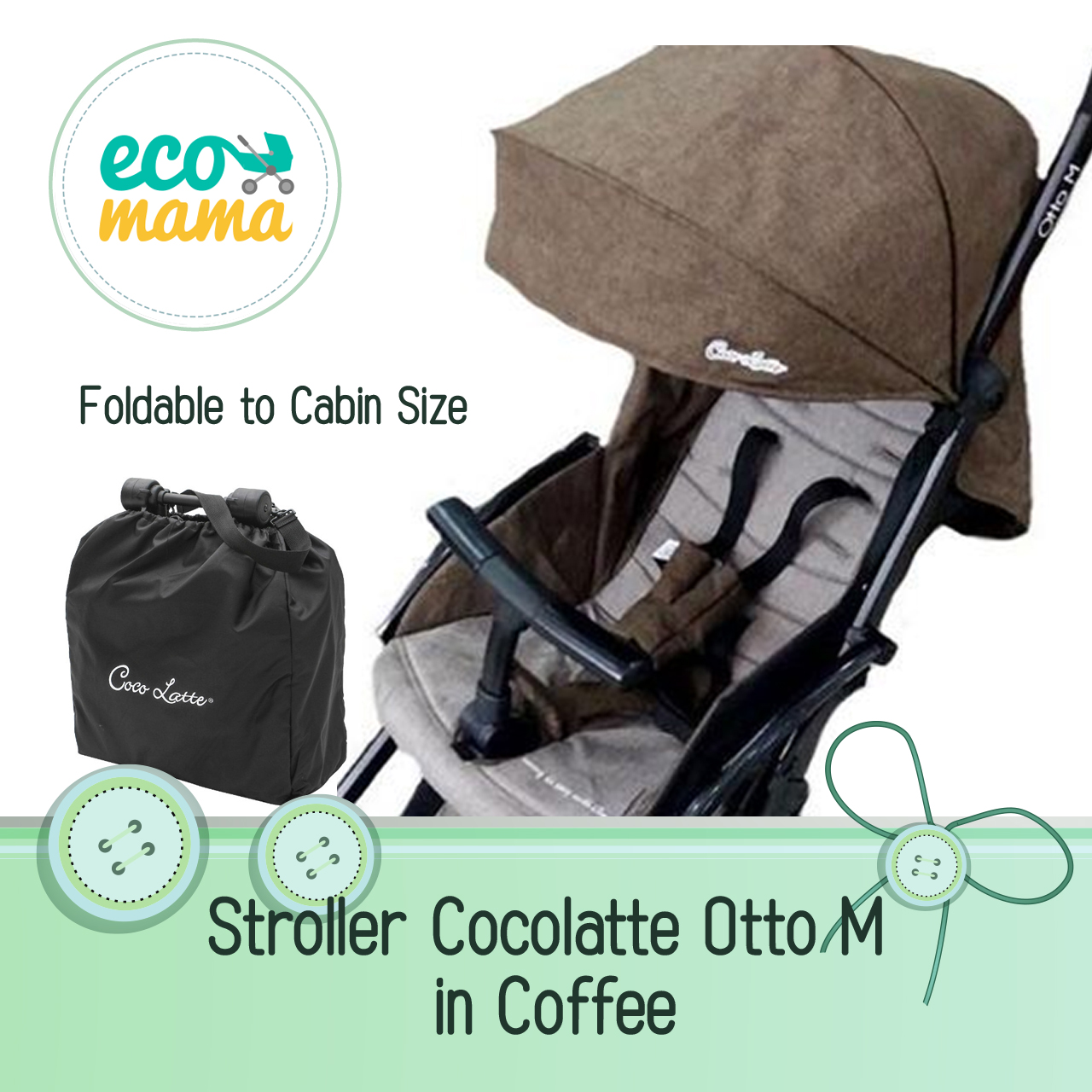 Stroller Cocolatte N73 Otto M Coffee