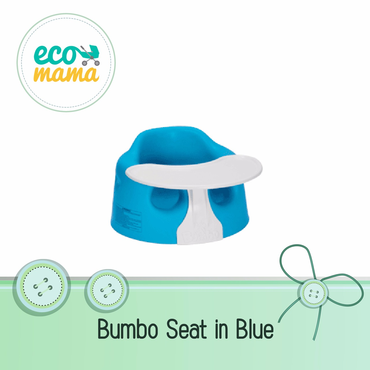 Bumbo Baby Seat with Play Tray Blue