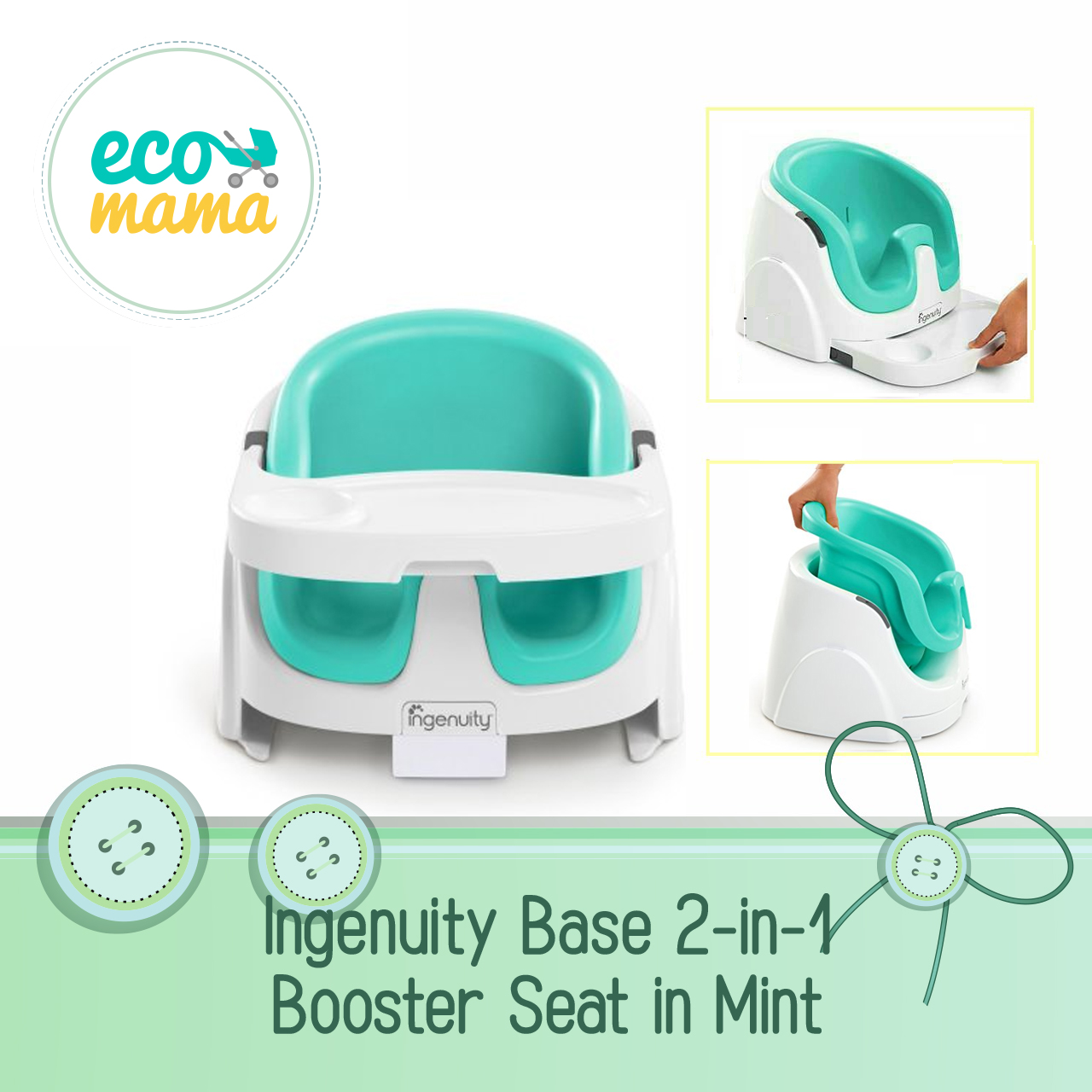 Ingenuity Baby Base 2 in 1 in Mint Green