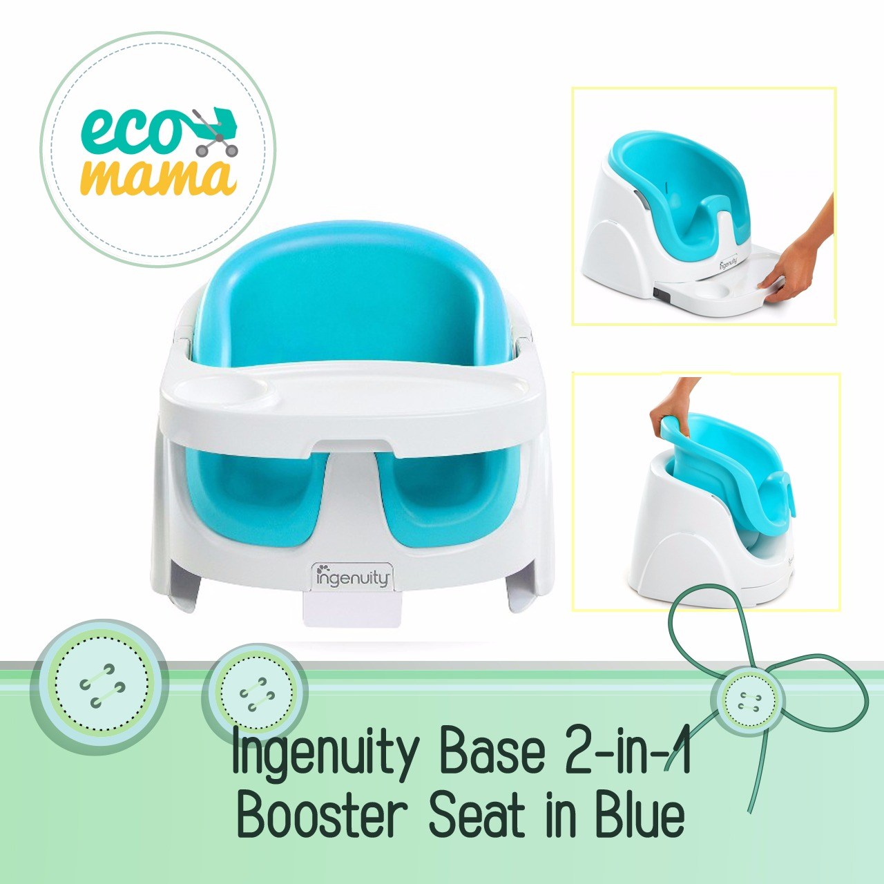 Ingenuity Baby Base 2 in 1 in Blue