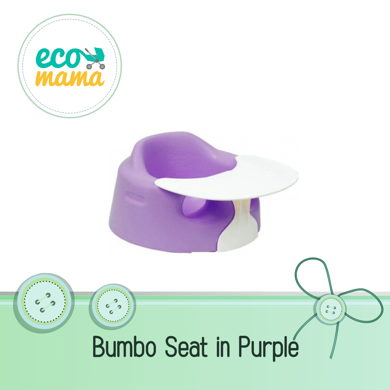 Bumbo Seat with Play Tray Purple