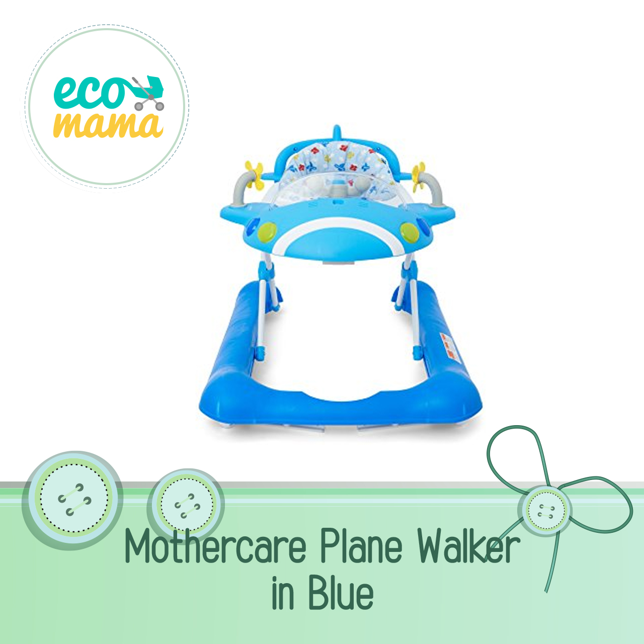 Mothercare Plane Walker in Blue