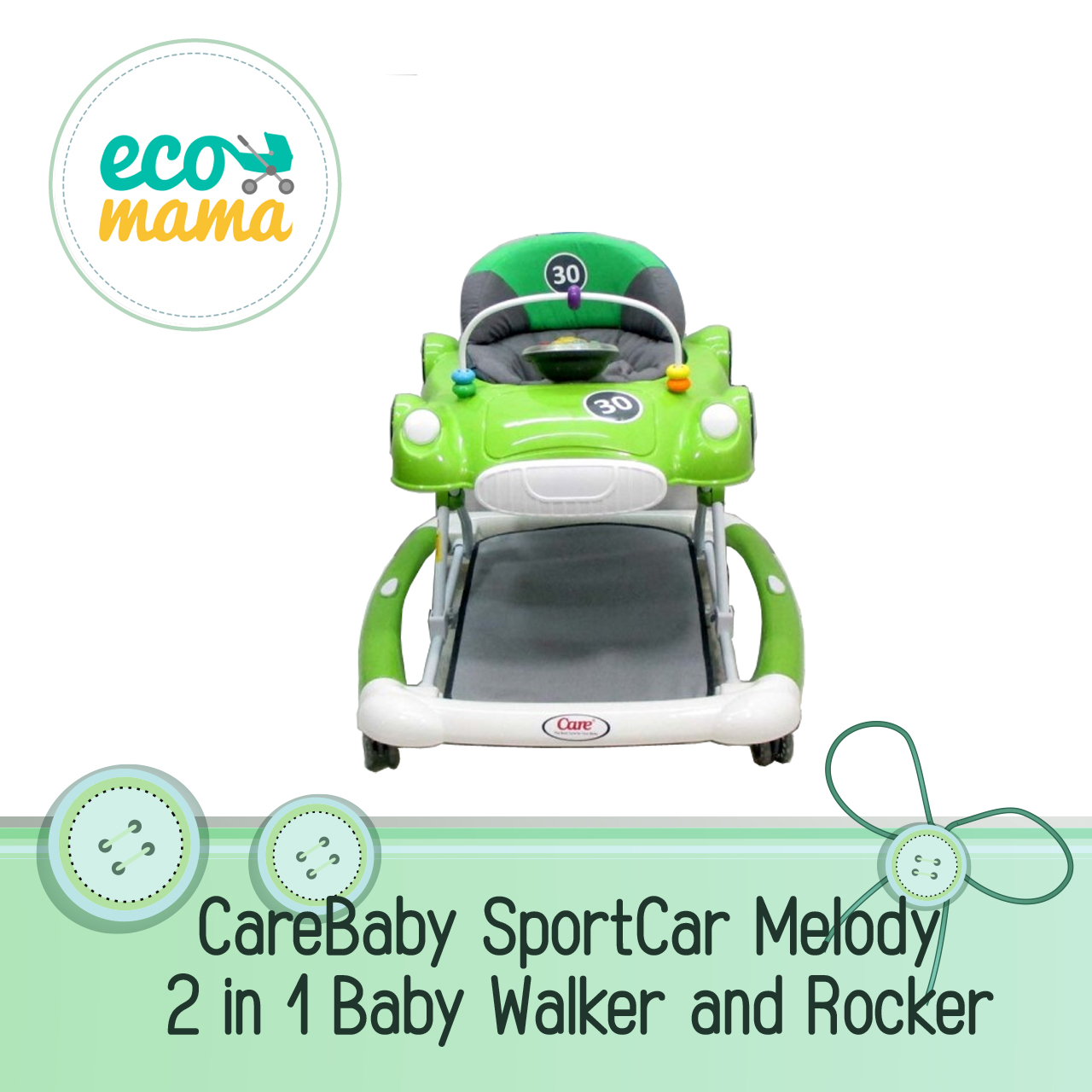 Care 2in1 Sport Melody Car Rocker & Baby Walker