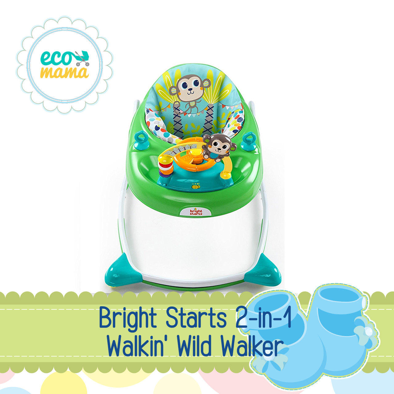 Bright Starts 2 in 1 Walkin' Wild Walker