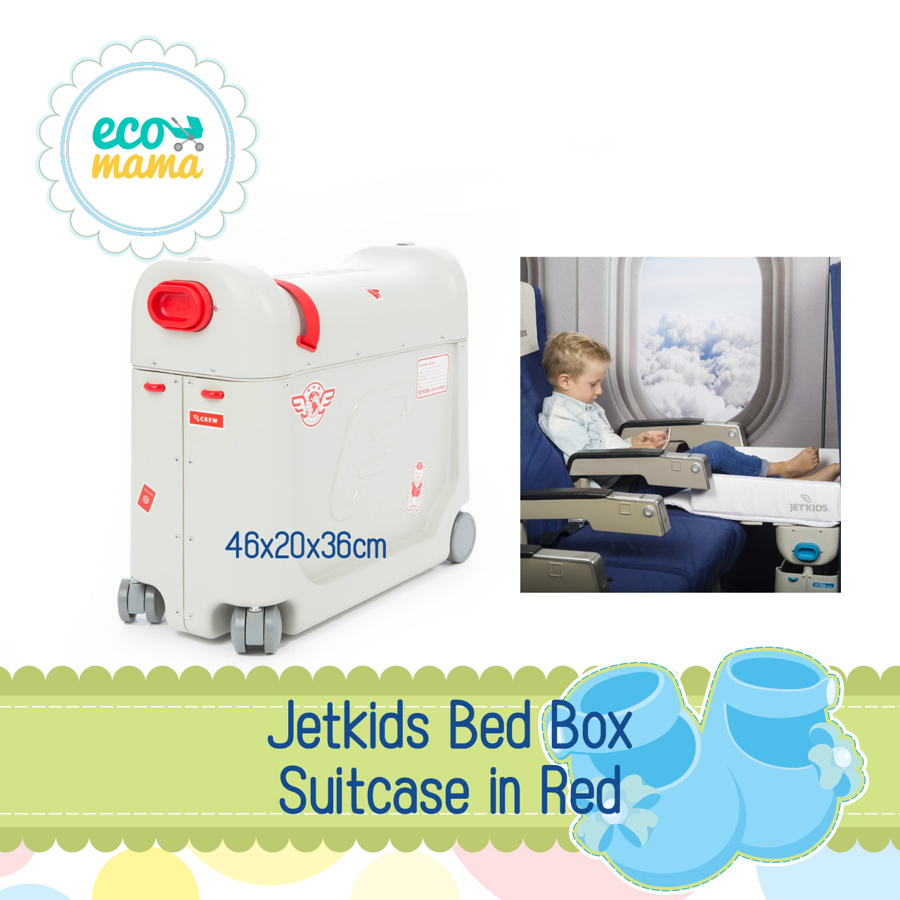Jetkids Bed Box Suitcase in Red