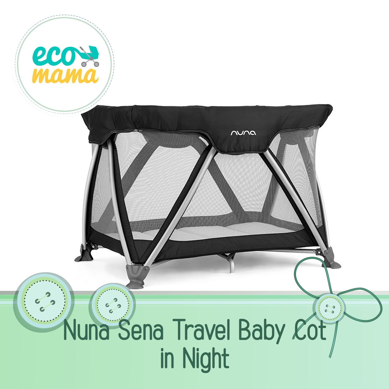 Nuna Sena Travel Crib in Night