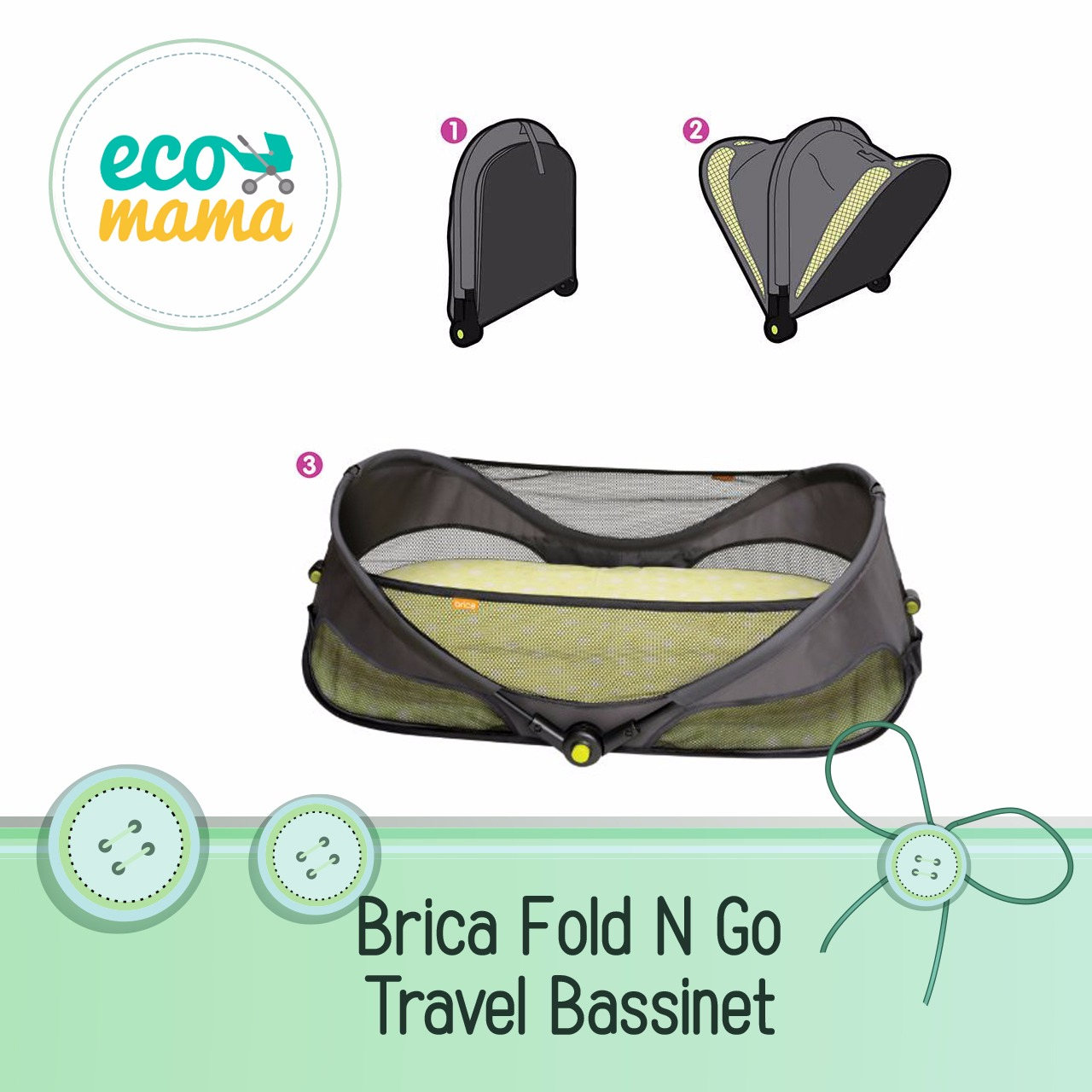 Brica Fold and Go Bassinet