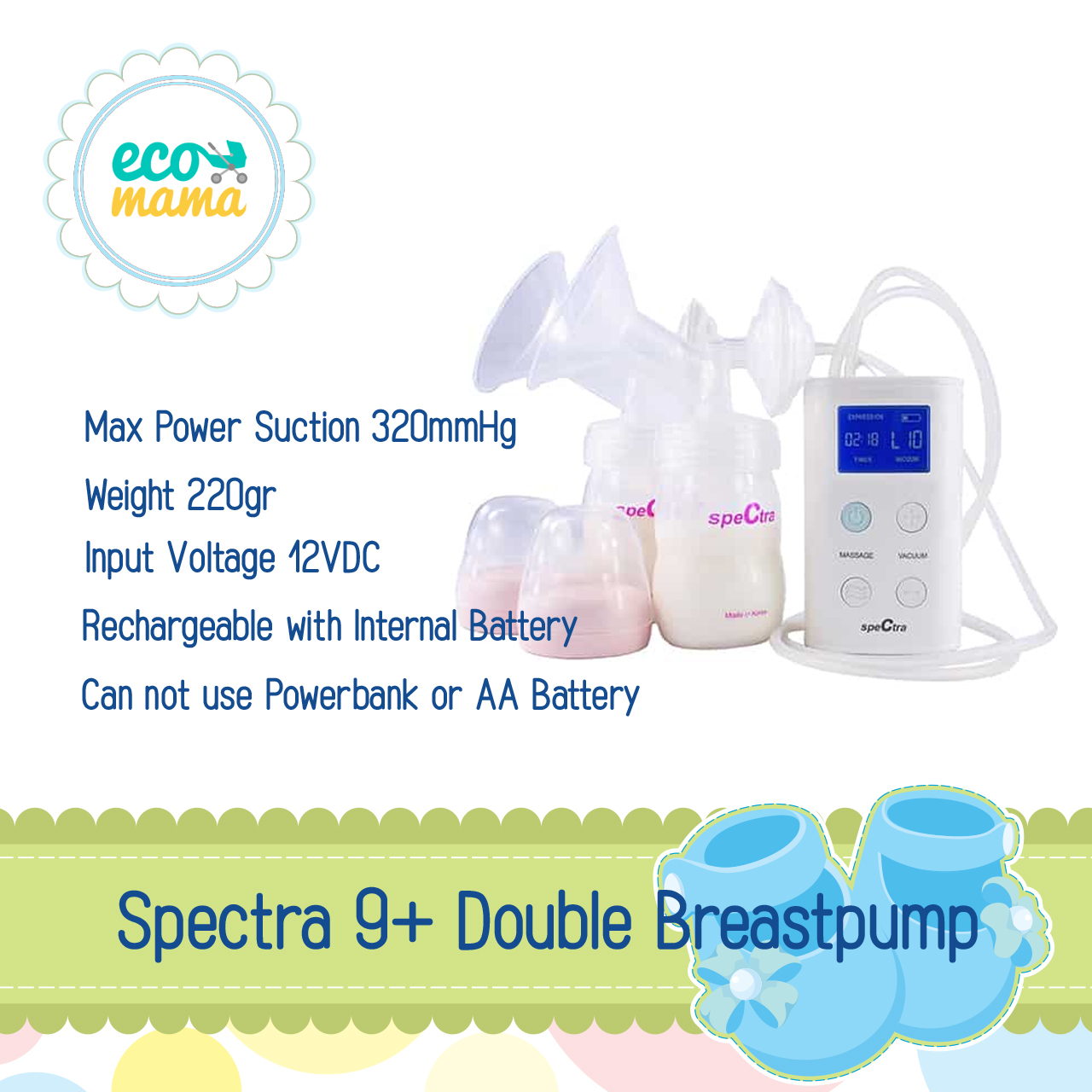 Spectra 9Plus Double Electric Breastpump