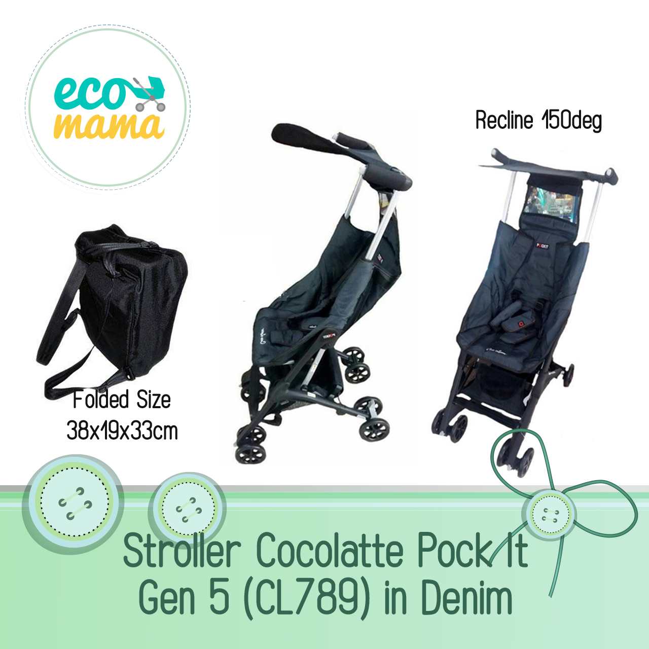 Cocolatte Pockit CL789 Gen 5 Denim