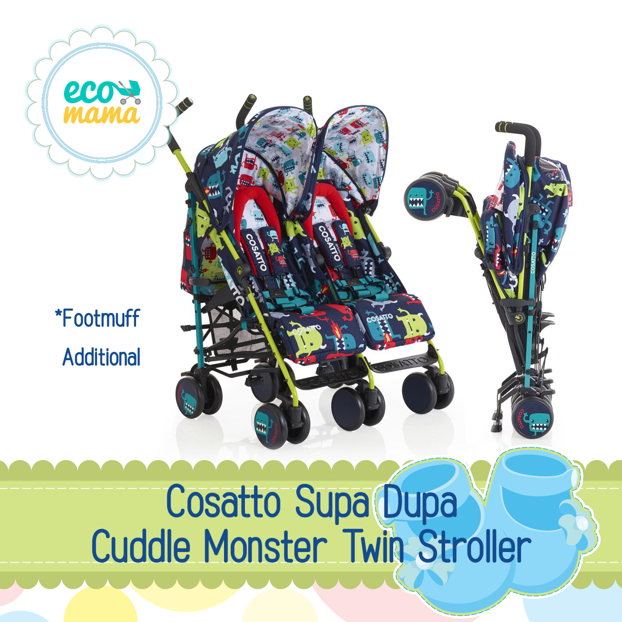 Cosatto Supa Dupa Cuddle Monster Twin