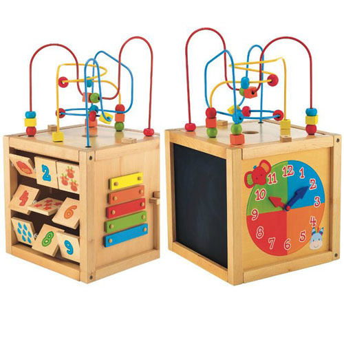 ELC Safari Wooden Activity Cube