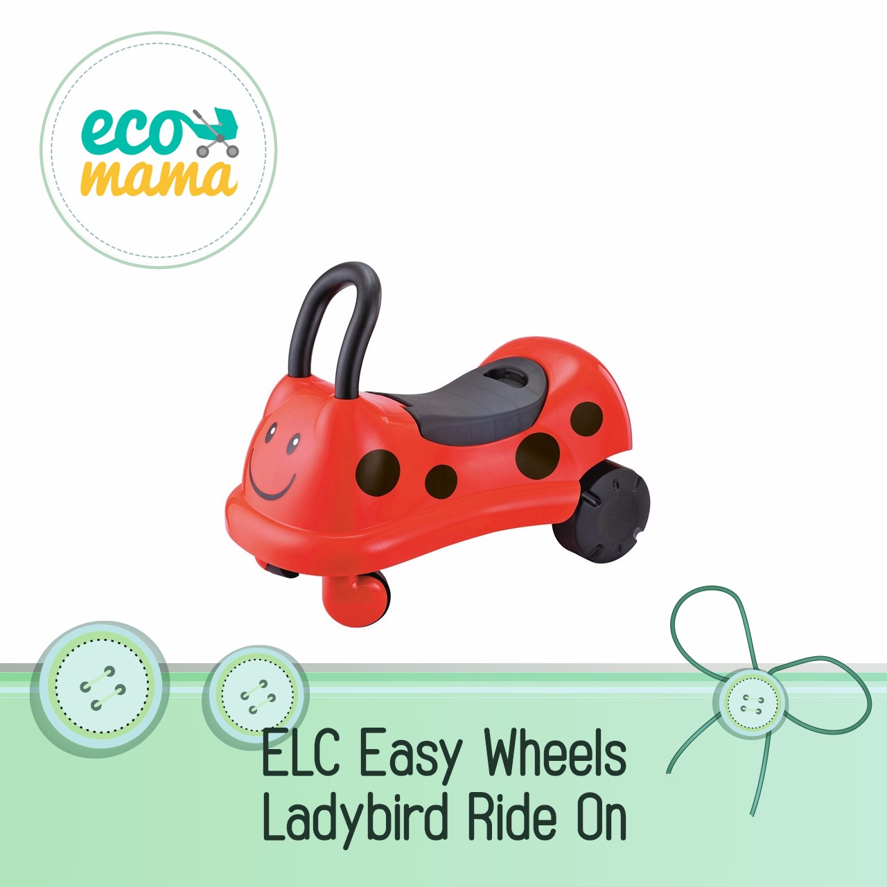 ELC Easy Wheels LadyBird Ride On