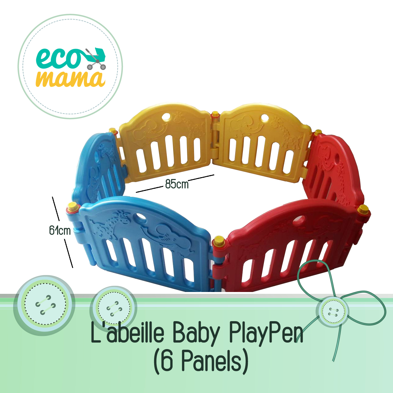 Labeille 6 Panel Playpen