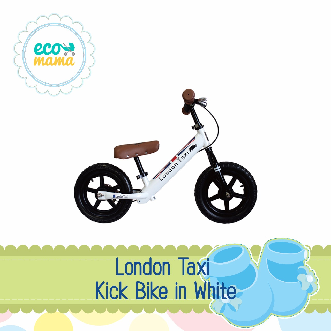 London Taxi Kick Bike in White